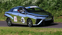 Toyota Mirai competes at Gurston Down Speed Hill Climb