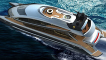 Royal Falcon Fleet RFF135 power catamaran by Porsche Design