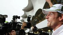 Jenson Button (GBR), Brawn GP celebrates Formula 1 World Championship, Brazilian Grand Prix, Sunday, Sao Paulo, Brazil, 18.10.2009
