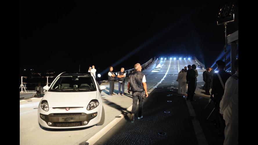 La Fiat Punto Evo sulla Cavour