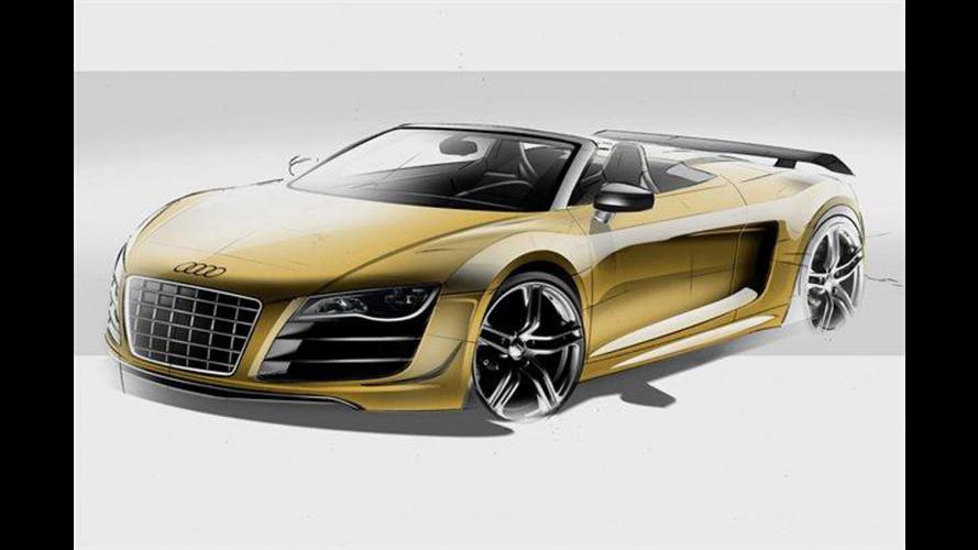 Audi R8 GT Spyder, i bozzetti ufficiali