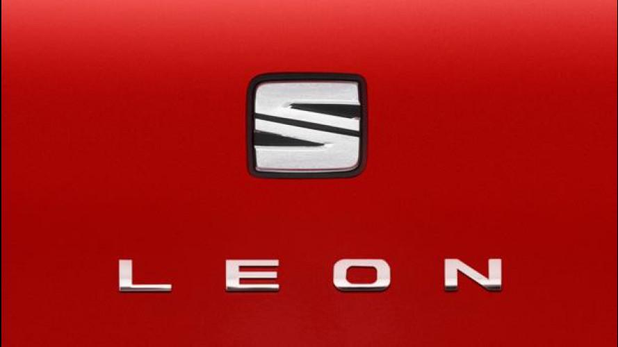 Il nuovo logo Seat debutta sulla Leon