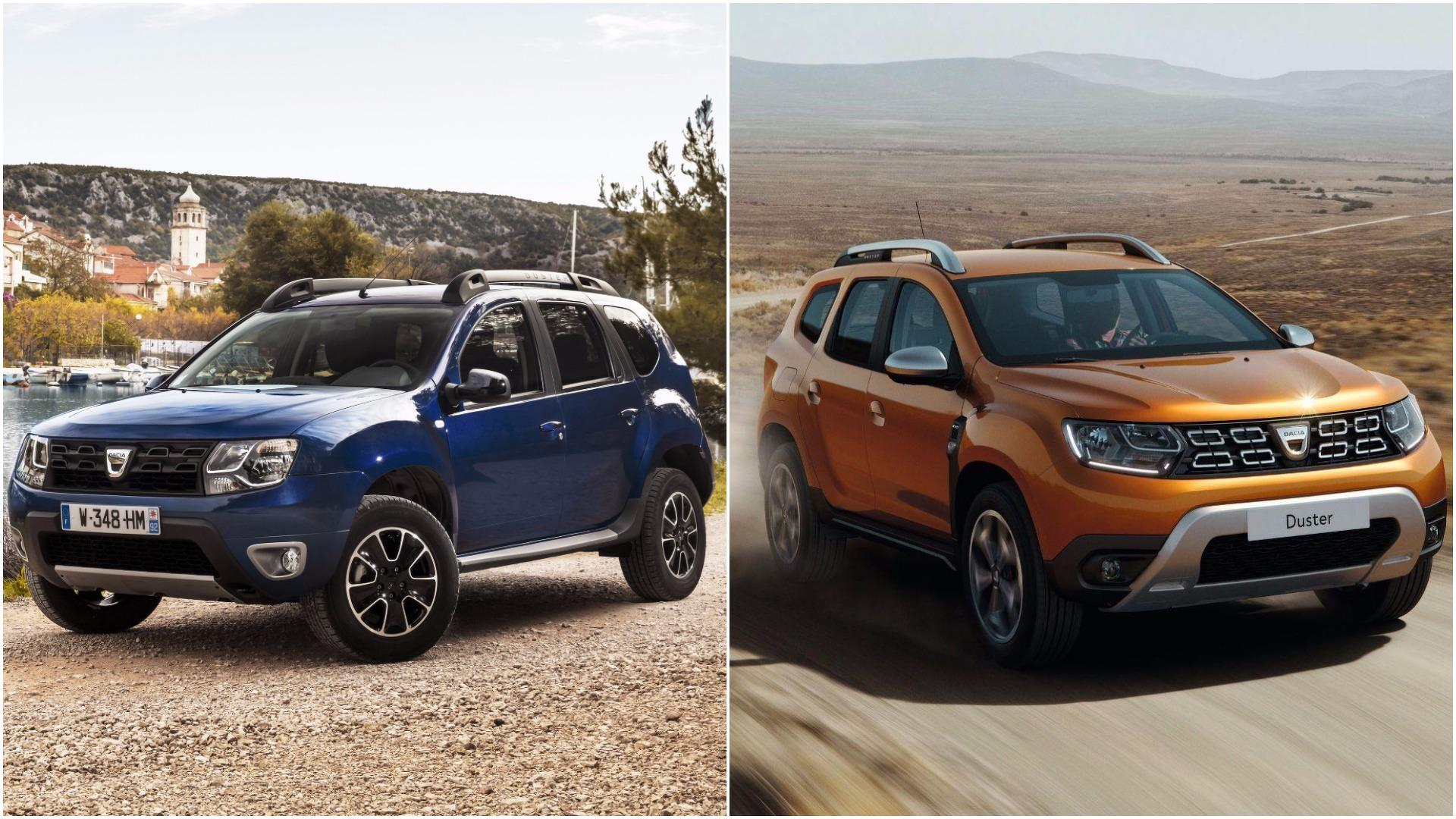 2018 dacia duster see the changes side by side for Dacia duster foto