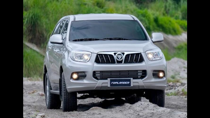 Chinesa Foton confirma produção de vans e SUVs no Brasil