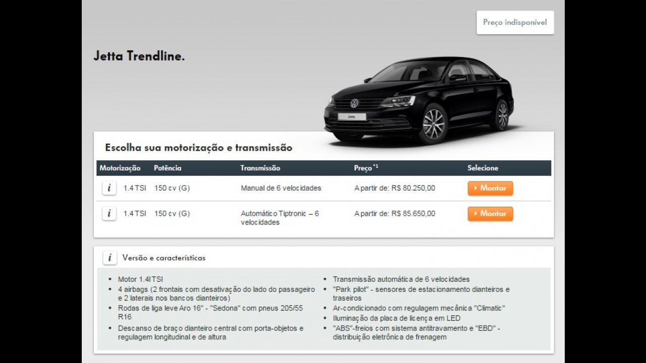 VW Jetta tem novo reajuste de preços e agora parte de R$ 80.250