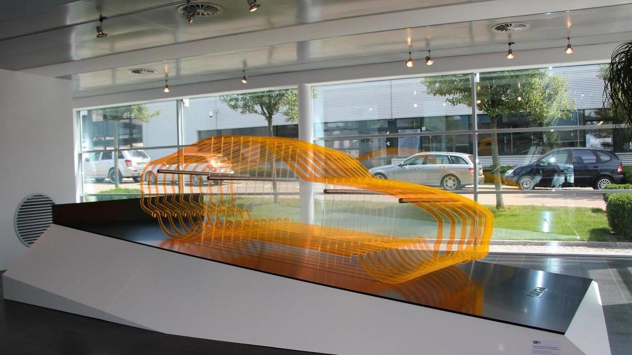 Mercedes-AMG GT teaser at AMG showroom