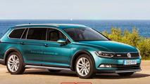 Volkswagen Passat Alltrack shows its rugged body in new render
