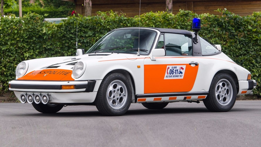 1989 model Porsche 911 Targa Hollanda polis aracı açık arttırmaya çıkarılıyor