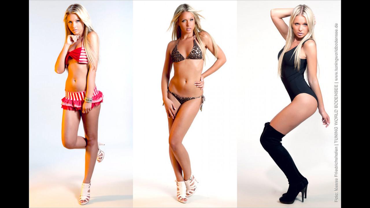 Die aktuelle Miss Tuning 2011 Mandy Lange: Posieren geht über Studieren