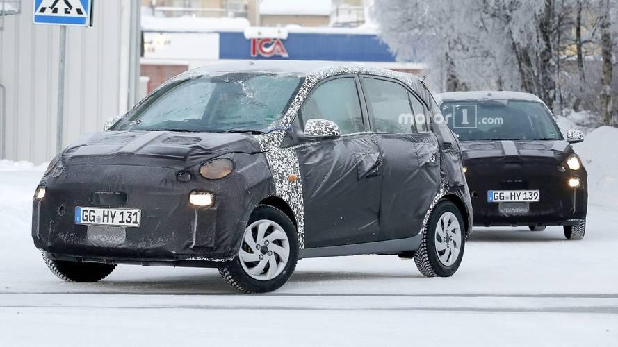 Hyundai Santro Avrupa'da test edilirken yakalandı