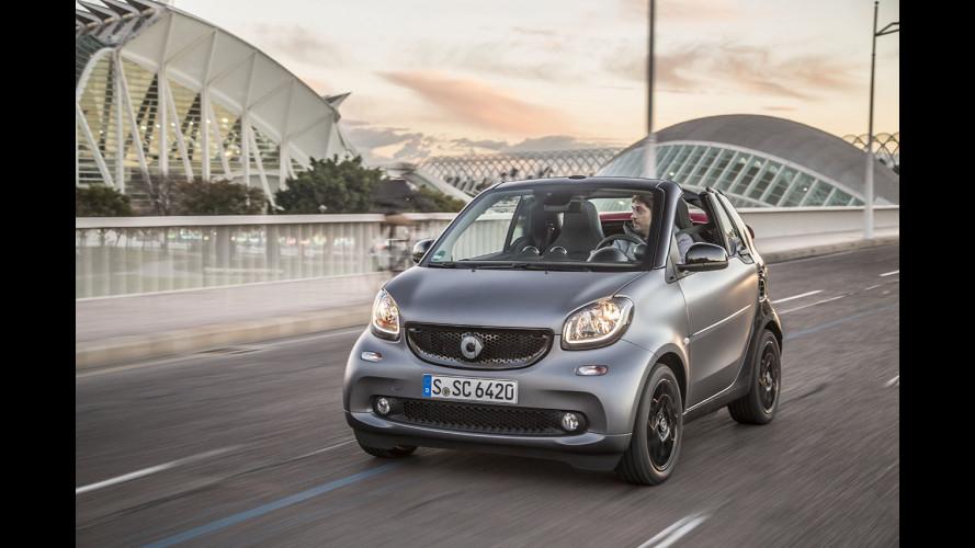 Nuova smart fortwo cabrio, prezzi da 17.640 euro