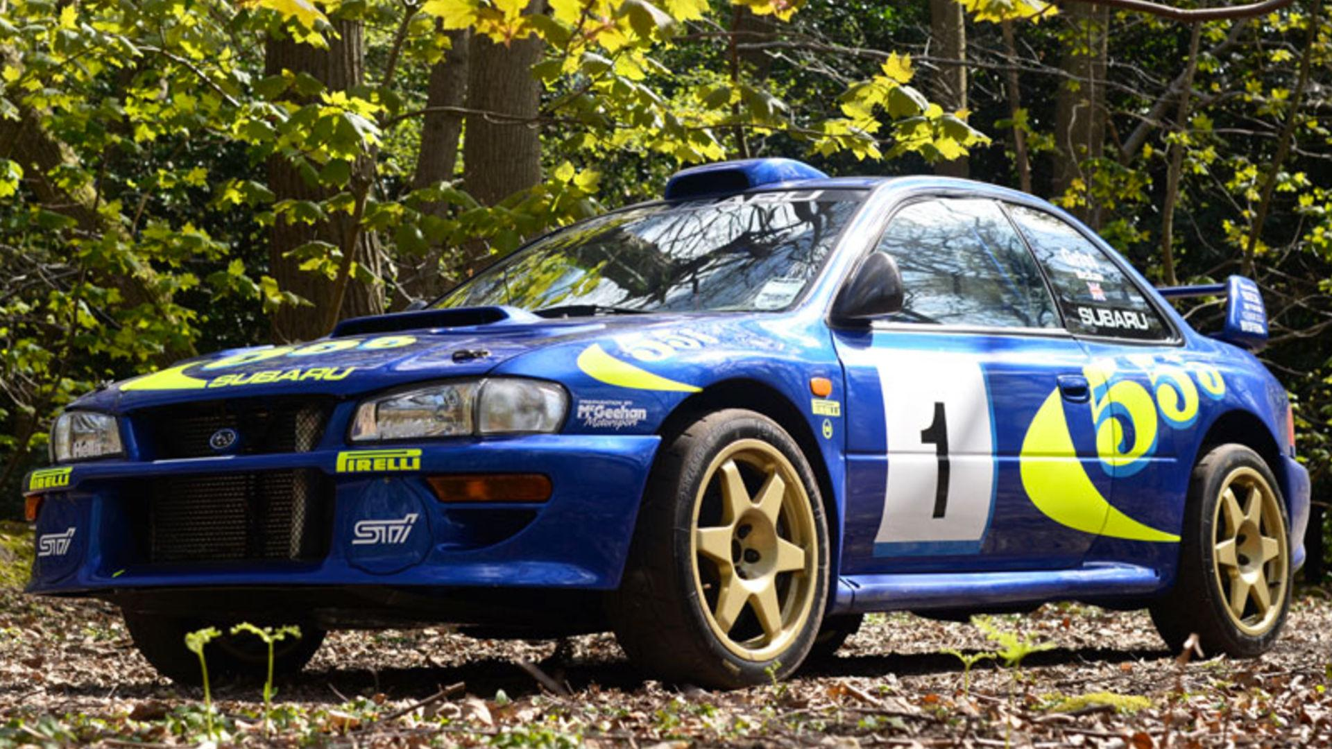 colin mcrae 39 s subaru impreza wrc test car sells for nearly 300k. Black Bedroom Furniture Sets. Home Design Ideas