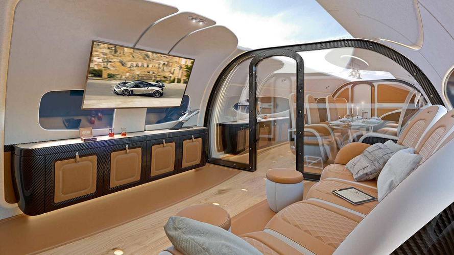 Pagani Designed A Jet Cabin Like The Inside Of A Huayra