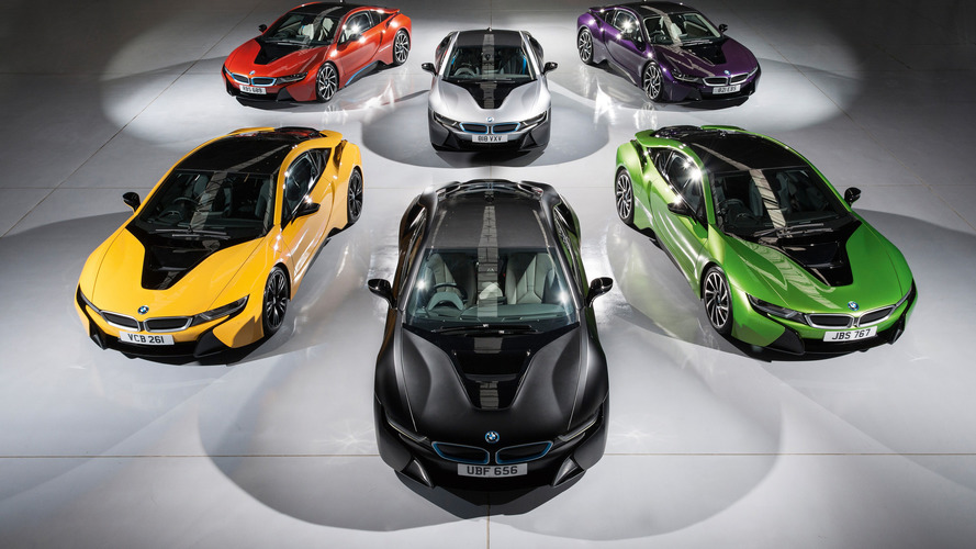 Rainbow of new colors lets BMW i8 brighten up in the U.K.