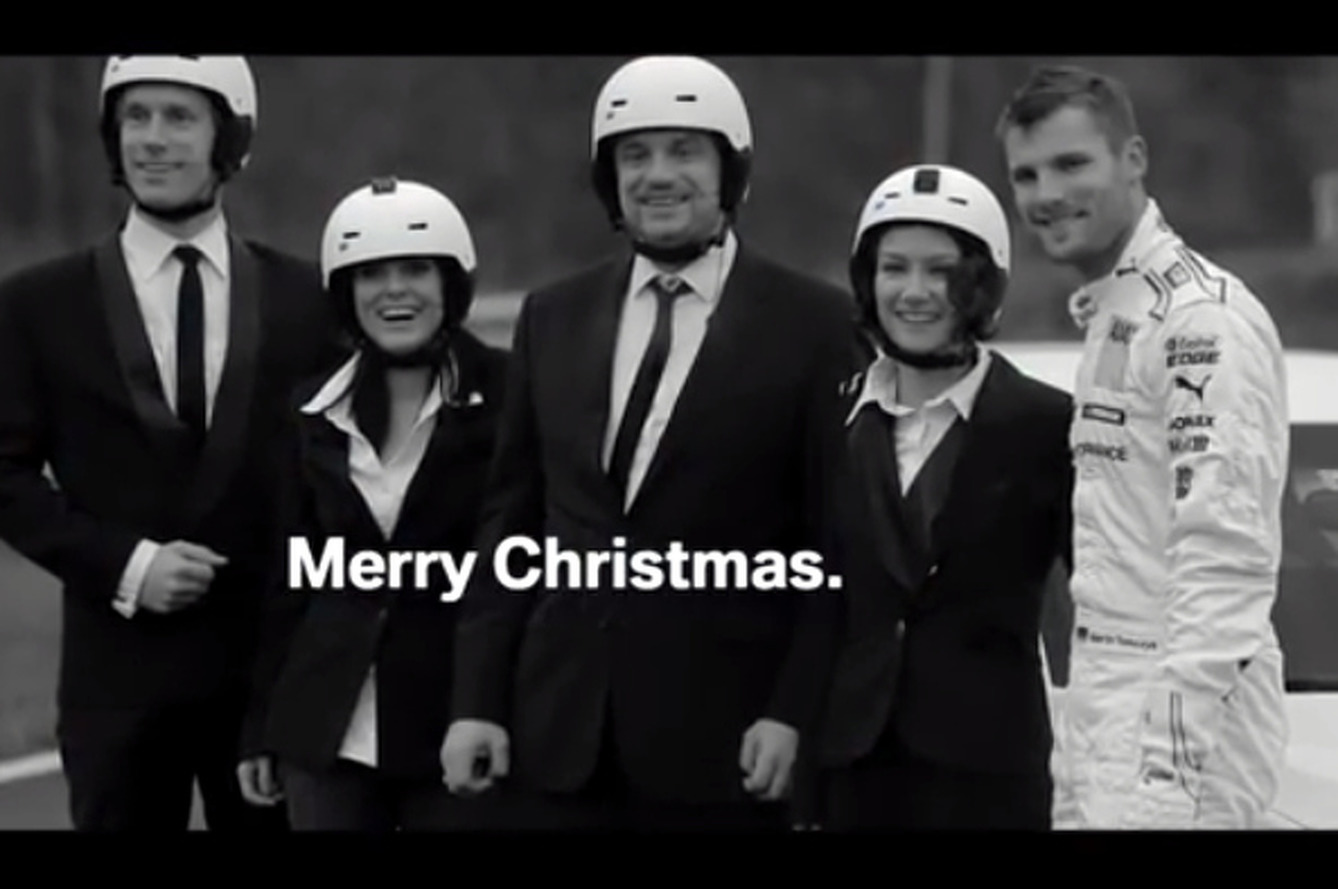 Singing Christmas Carols at 100+ MPH with BMW [video]