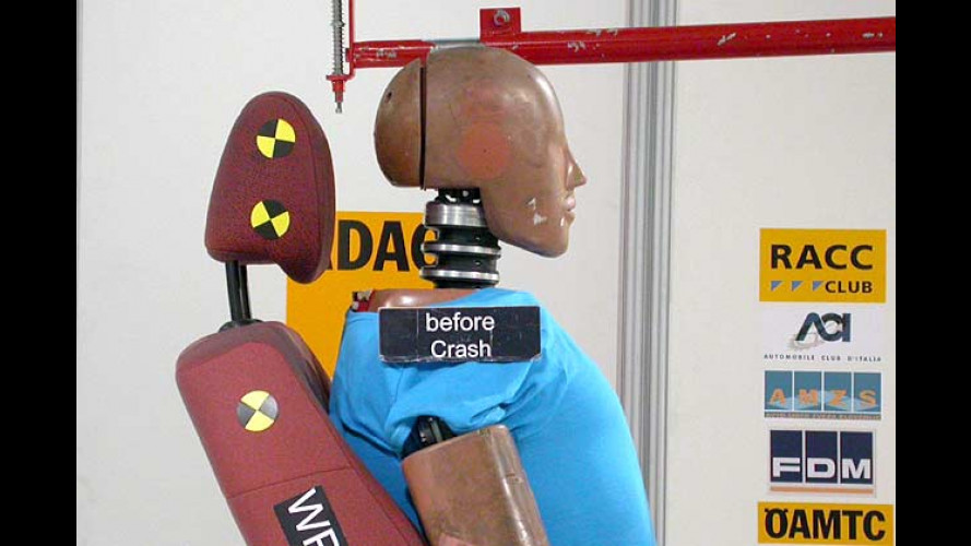 Heckaufpralltest 2005: Autositzsysteme im ADAC-Test
