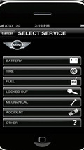 MINI Roadside Assistance mobile application