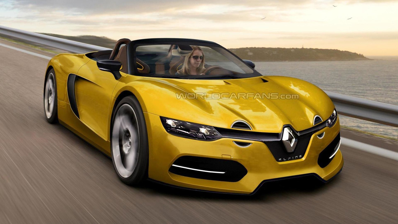 Renault Alpine Spider render