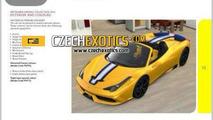 Ferrari 458 Speciale Spider configurator screenshot (not confirmed)