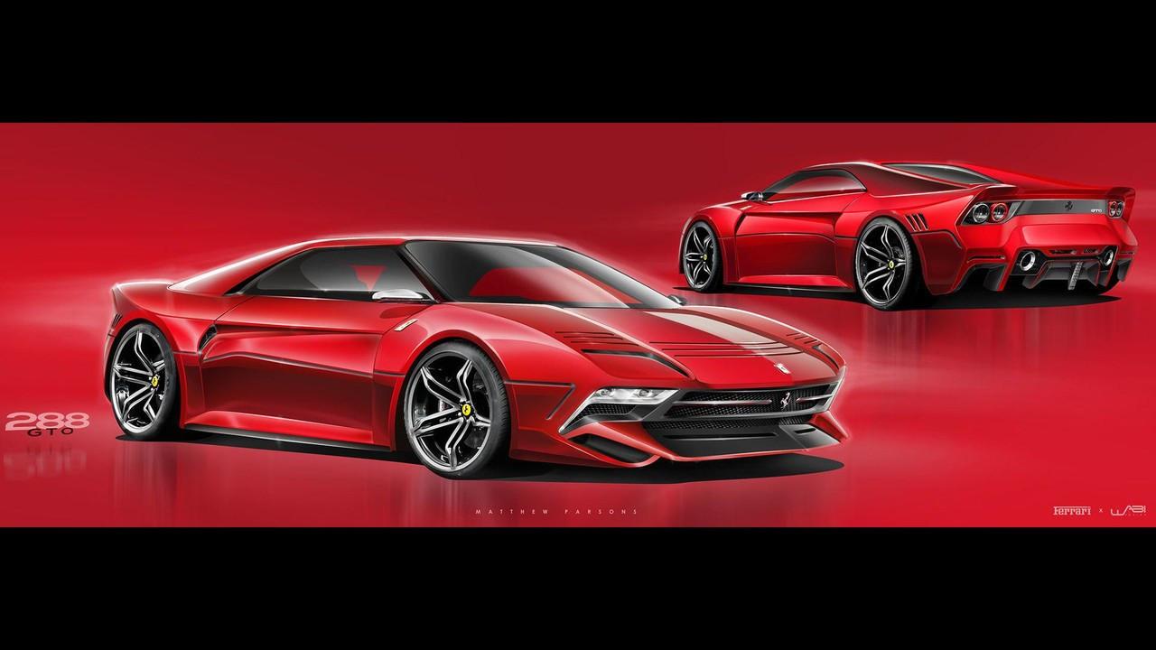 Nuova Ferrari 288 GTO, il rendering