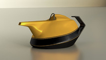 Renault Formula One Yellow Teapot