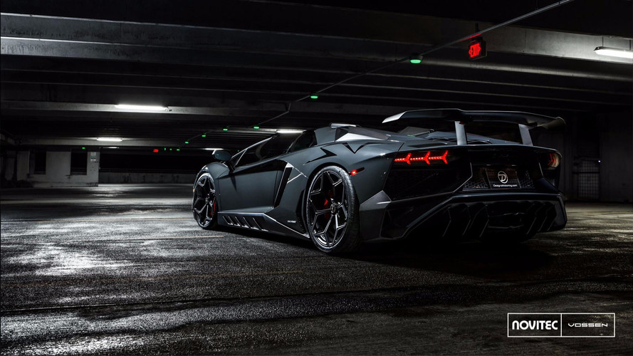 Une fantastique Lamborghini Aventador SV Roadster par Novitec