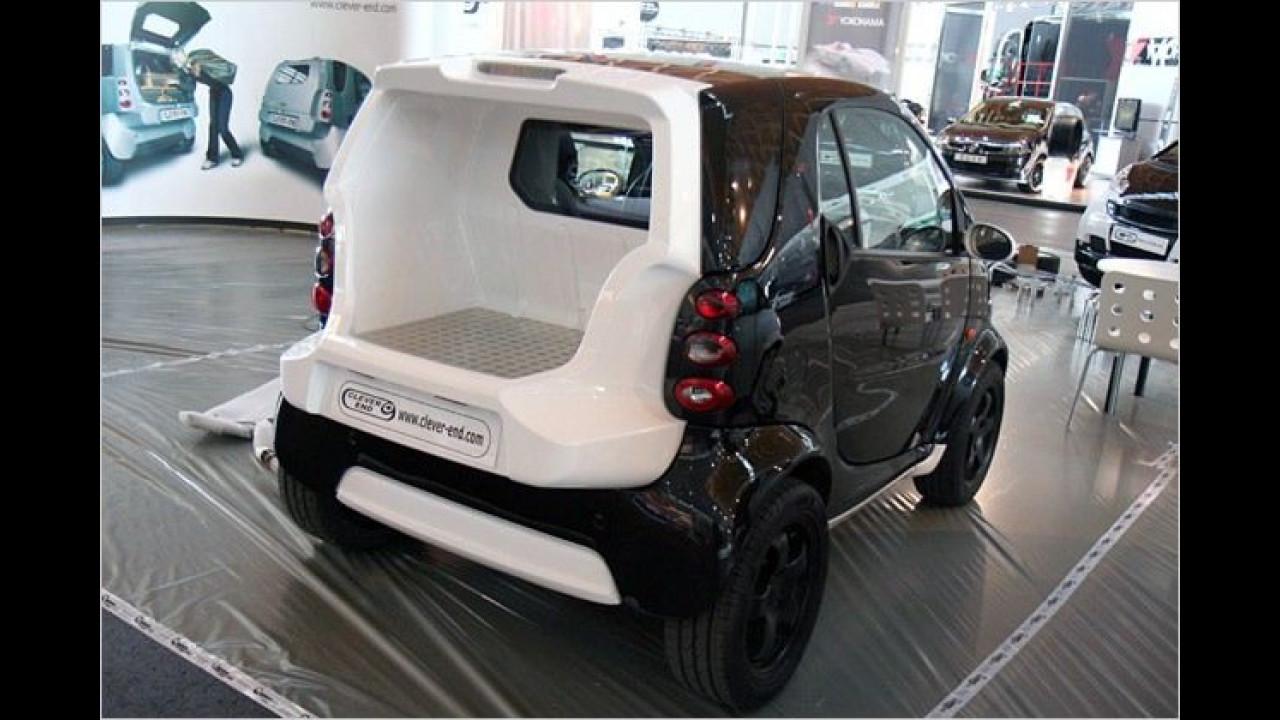 Clever Parts macht aus dem Smart einen Pick-up