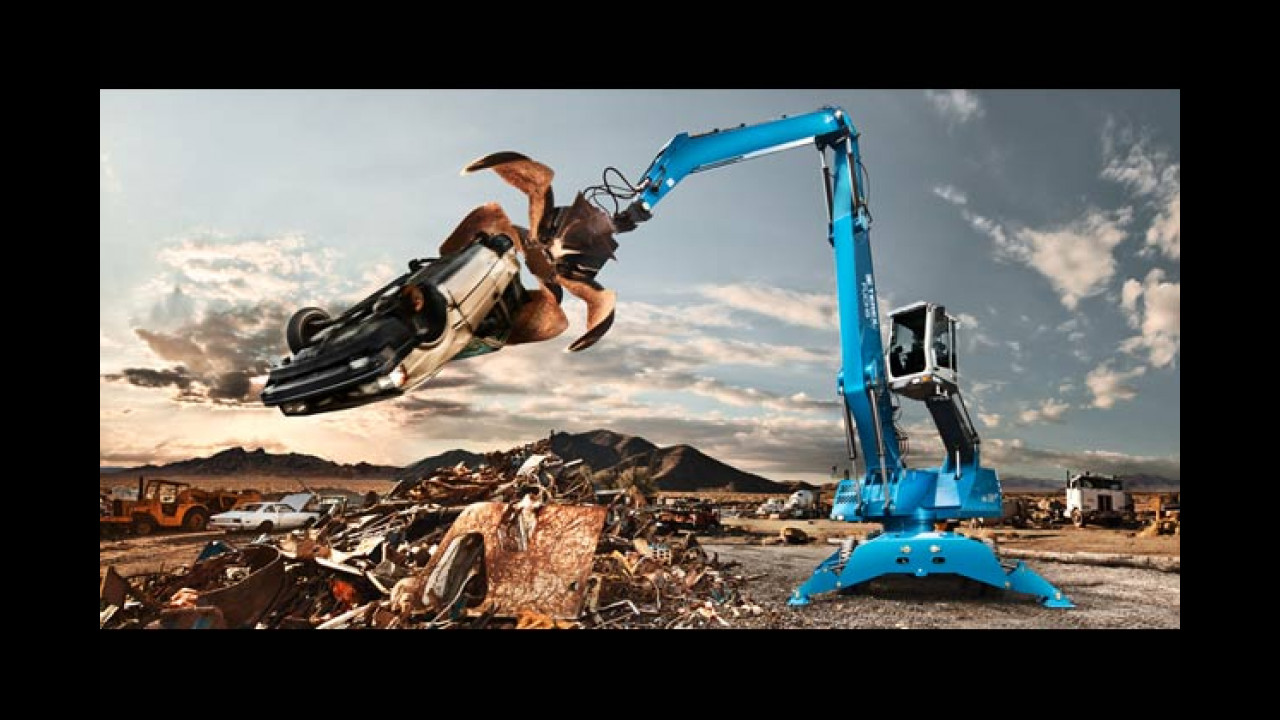 August: Terex Fuchs MHL 350 Materialumschlaggerät (Nevada, USA)
