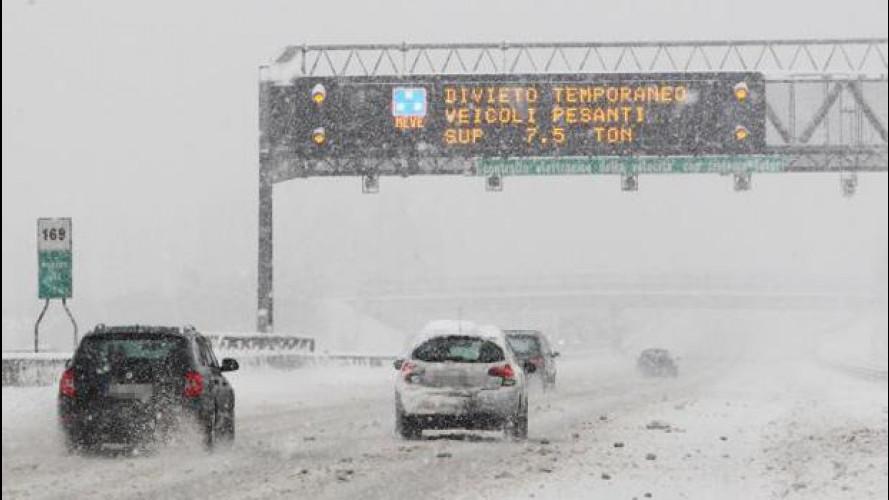 Maltempo, la situazione in autostrada