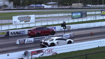 Tesla Model X vs Lamborghini Aventador SV