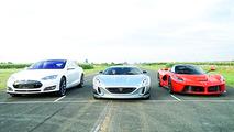 Rimac Concept One takes on LaFerrari, Tesla Model S P90D in drag race