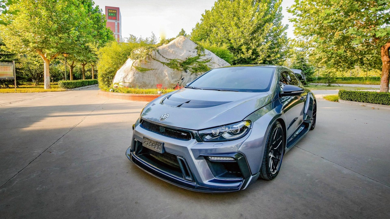 Widebody VW Scirocco R tuned to 430hp by China's Aspec