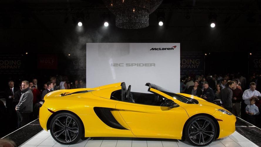 McLaren 12C Spider makes its public debut at Pebble Beach
