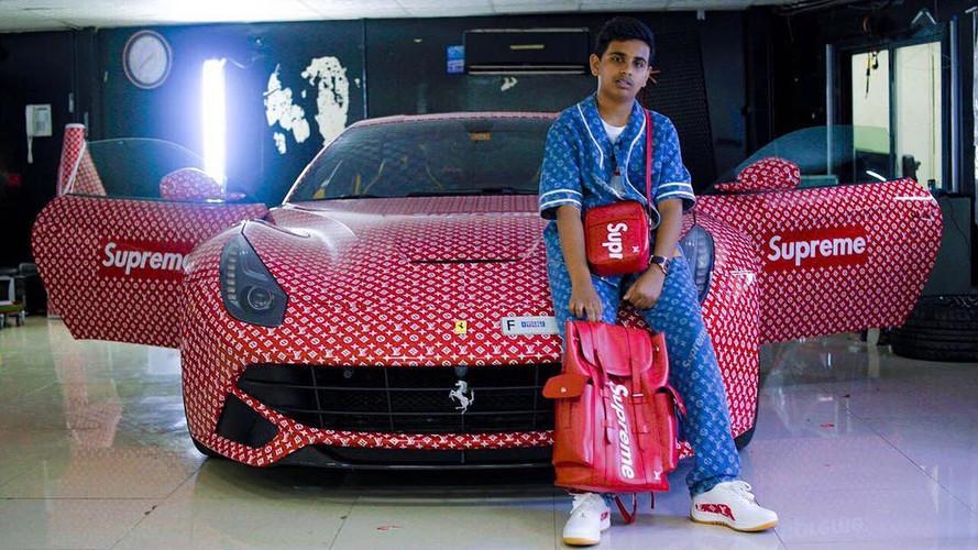 Cet ado s'offre une Ferrari F12berlinetta façon Louis Vuitton