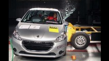 Fiat Palio tem melhor proteção lateral que o Peugeot 208, mostra LatinNCAP
