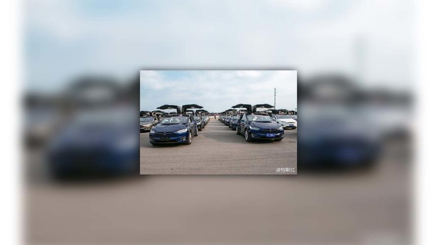 Défilé de Tesla en Chine