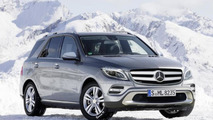 2015 Mercedes M-Class facelift rendering