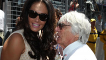 Bernie Ecclestone, CEO Formula One Group (FOM) with his daughter Tamara Ecclestone