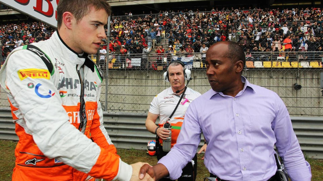 Paul di Resta with Anthony Hamilton 15.04.2012 Chinese Grand Prix