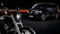 VW Multivan with Harley-Davidson Motorcycles