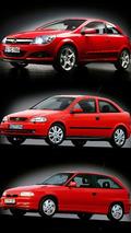 Three generations of Opel Astra