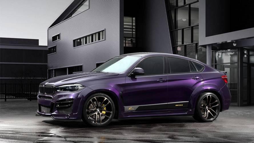 BMW X6 Widebody Has Corvette-Esque Quad Exhaust, Porsche Paint