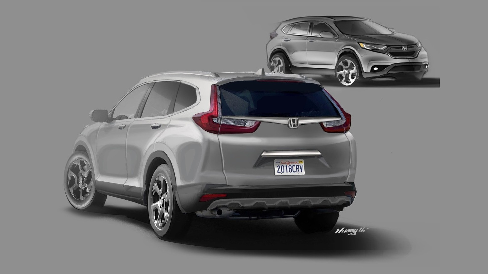 Reader envisions 2018 honda cr v based on spy shots for Honda crv usa