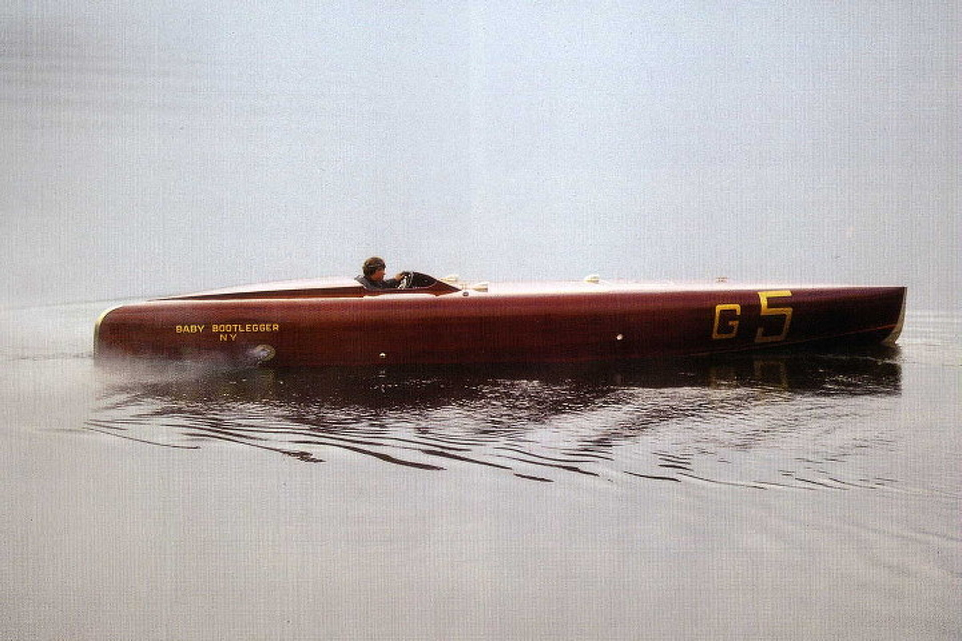 The Baby Bootlegger is a Vintage Speed Boat of Epic Proportions