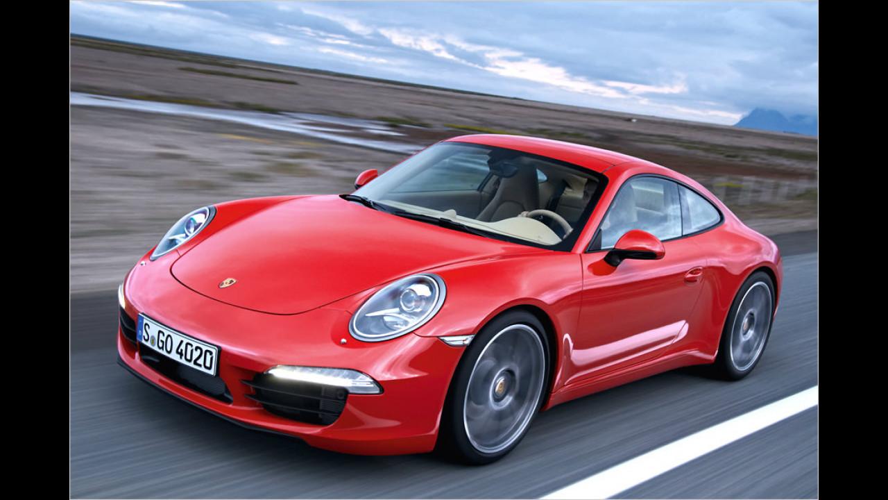 Porsche 911 gegen Chevrolet Corvette