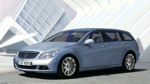 2008 Mercedes C-Class wagon illustration