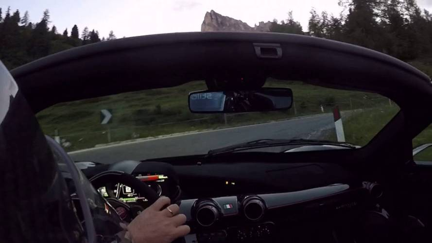 Hill Climb On Closed Road With LaFerrari Is As Great As It Sounds