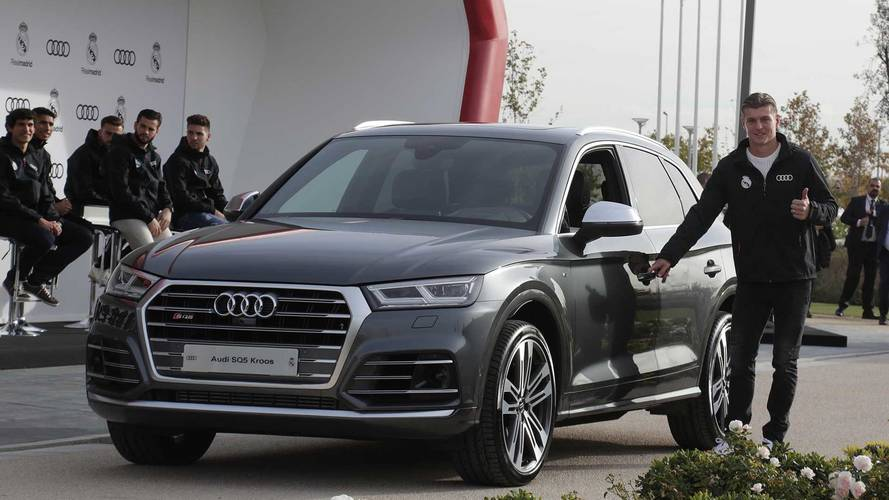Audi cars for Real Madrid players