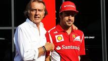 Luca di Montezemolo (ITA) Ferrari President with Fernando Alonso (ESP) Ferrari