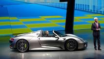 Porsche 918 Spyder production model live at 2013 Frankfurt Motor Show